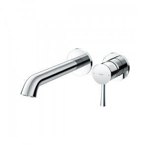 Wall-Mount Single Lever Washbasin Faucet   (Long Spout) without waste fitting