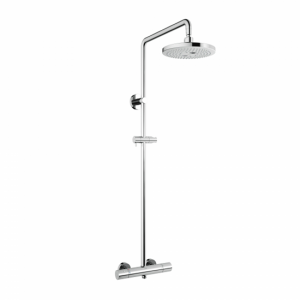 Shower Column with multi function over head shower with thermostat valve (round over head) (w/o hand shower)