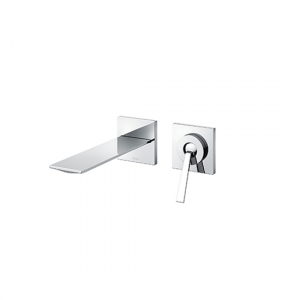 Single lever Wall Mounted Washbasin Faucet Short Spout w/o Waste Fitting