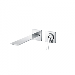 Single lever Wall Mounted Washbasin Faucet Long Spout w/o Waste Fitting