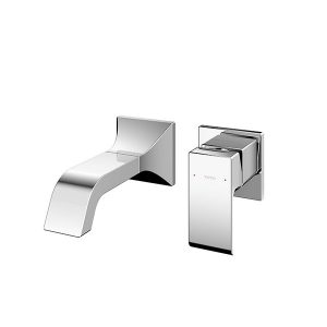Wall Mounted Washbasin Faucet Short Spout w/o Pop-up Waste