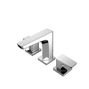 2 Handle Washbasin Faucet (3 Holes) w/Pop-up Waste