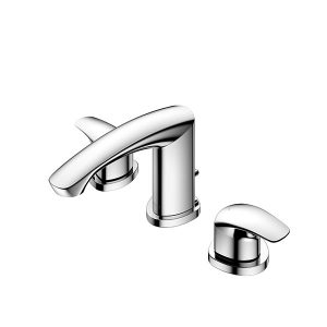 2Handles Washbasin Faucets (3 Holes) w/Pop-up Waste