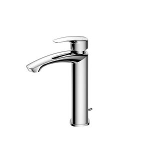 Single lever Washbasin Faucet for Semi-tall Vessel w/Pop-up Waste