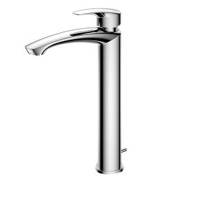 Single lever Washbasin Faucet for Tall Vessel w/Pop-up Waste