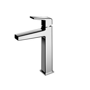 Single Lever Washbasin Faucet for Semi-tall Vessel w/o Pop-up Waste